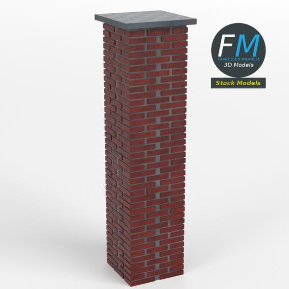 Brick pillar - 3DOcean Item for Sale