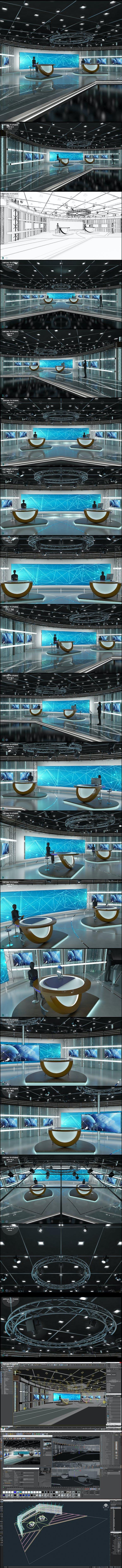 Virtual TV Studio News Set 3 - 3DOcean Item for Sale