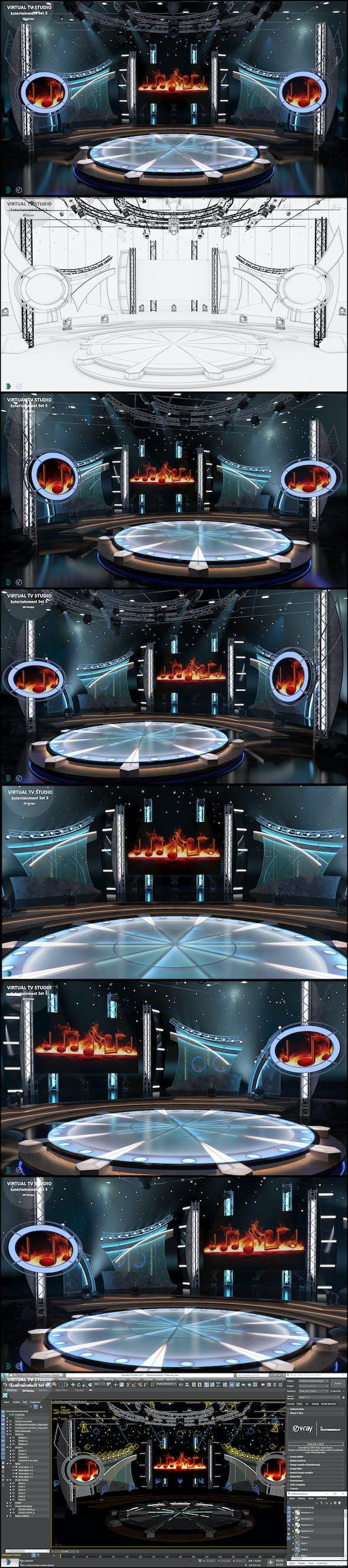 Virtual TV Studio Entertainment Set 5 - 3DOcean Item for Sale