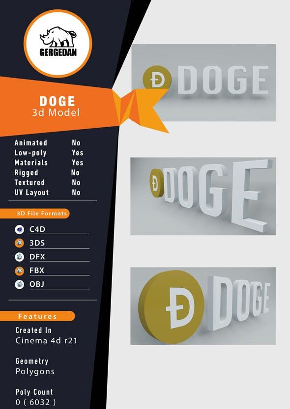 Dogecoin - DOGE - 3DOcean Item for Sale