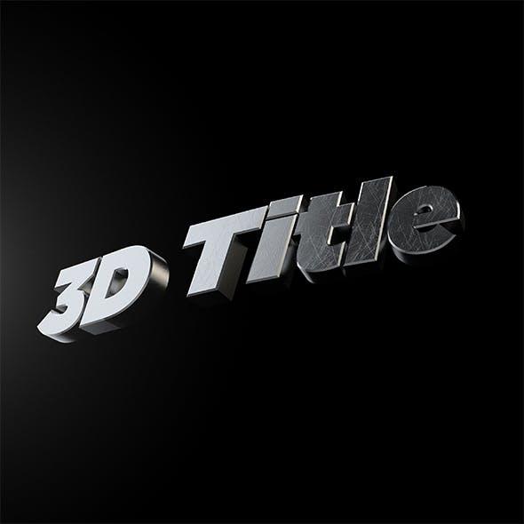 3D Title