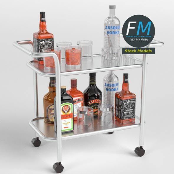 Drinks trolley cart 1