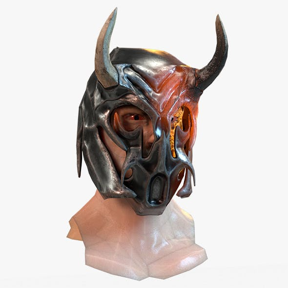 Warrior Head and Helmet Model
