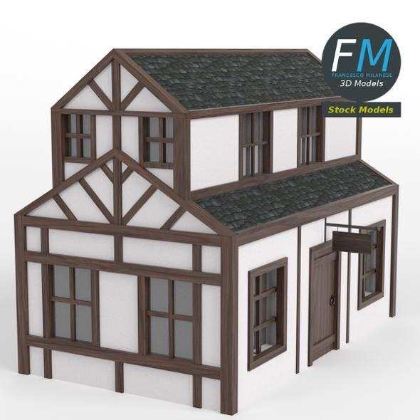 Half timbered inn - 3DOcean Item for Sale