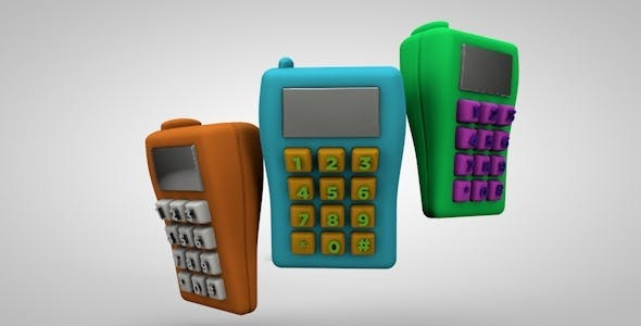 Mobile Toy Phone - 3DOcean Item for Sale