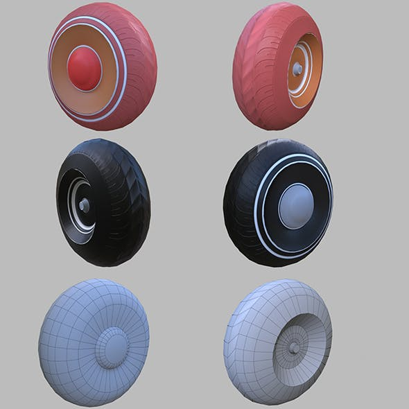 Wheelbarrow wheel - 3DOcean Item for Sale