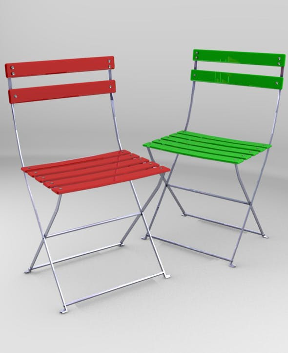 Metal and plastic chair - 3DOcean Item for Sale