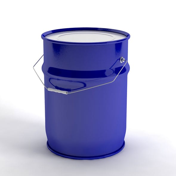 metal paint bucket - 3DOcean Item for Sale