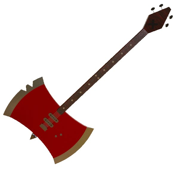 Marceline Bass Axe with Guitar