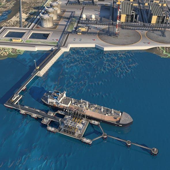 Sea port - 3DOcean Item for Sale
