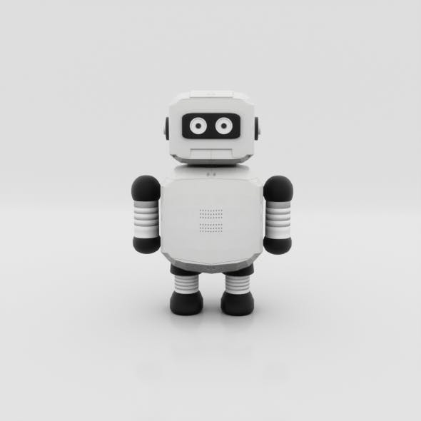 Low Poly Robot - 3DOcean Item for Sale