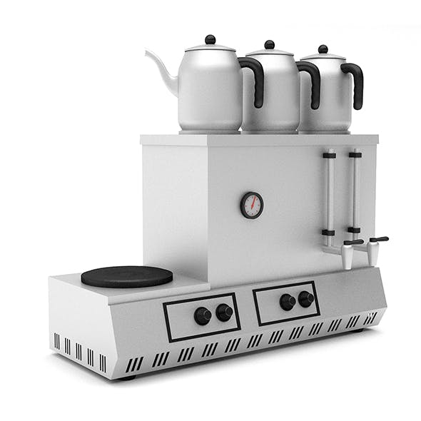 3d turkish tea stove - 3DOcean Item for Sale