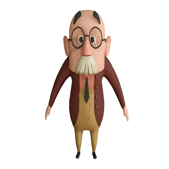 Old Man Cartoon 3D - 3DOcean Item for Sale