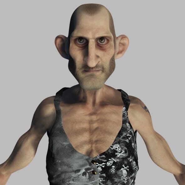Old Thin Man Rigged Character