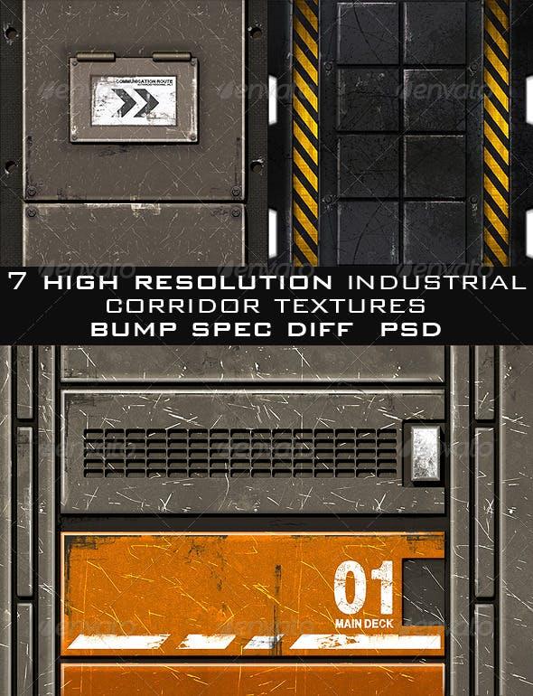 Industrial Corridor Game Texture Pack (7pcs.) - 3DOcean Item for Sale