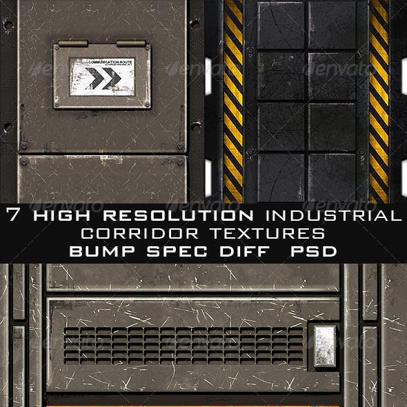 Industrial Corridor Game Texture Pack (7pcs.)