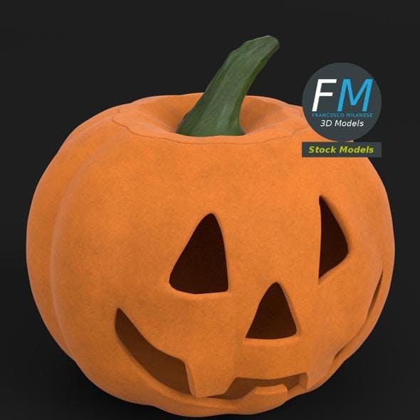 Stylized Halloween pumpkin