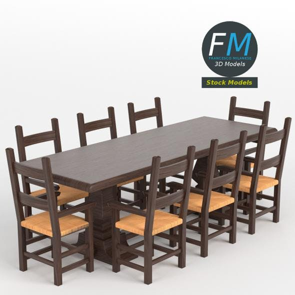 Table desk 2 - 3DOcean Item for Sale