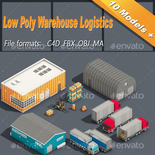 Low Poly Warehouse Logistics Isometric Icon