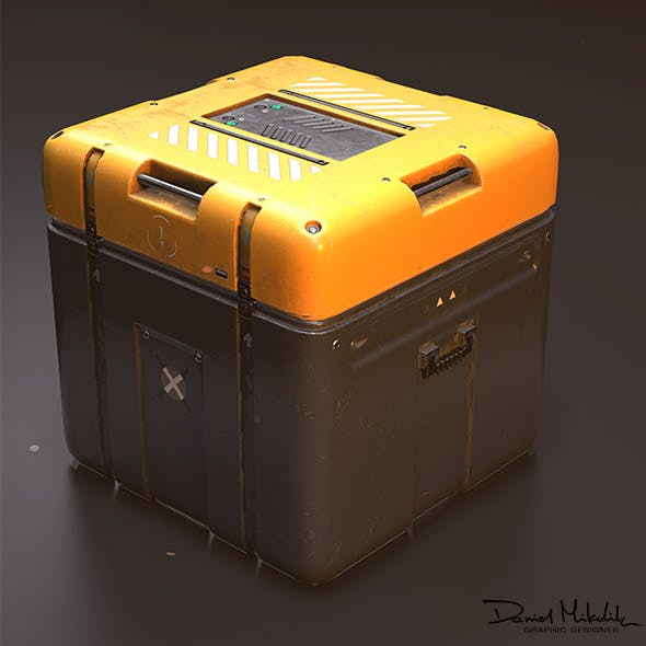 Sci-Fi Equipement Box - 3DOcean Item for Sale