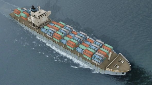 Cargo Container Ship - 3DOcean Item for Sale