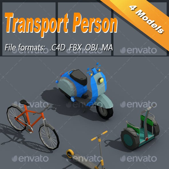Low Poly Transport Person Isometric Icon