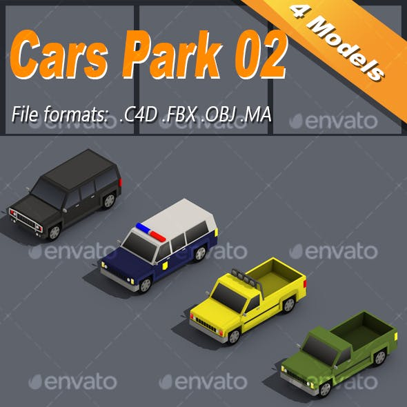 Low Poly Car Isometric Pack 02