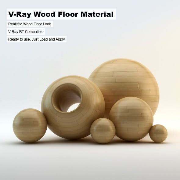 V-Ray Wood Floor Material - 3DOcean Item for Sale