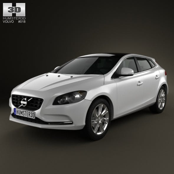 Volvo V40 2013 - 3DOcean Item for Sale