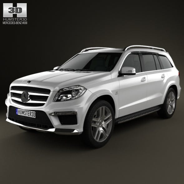 Mercedes-Benz GL-Class X166 AMG 2013 - 3DOcean Item for Sale