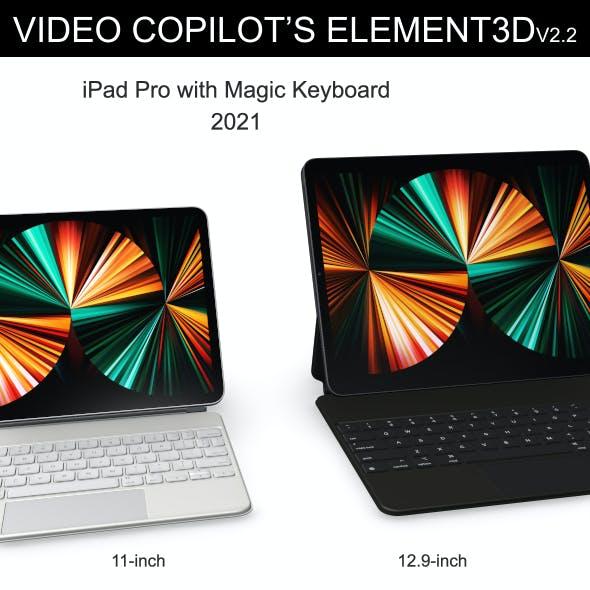 Element3D - iPad Pro 2021 with Magic Keyboard