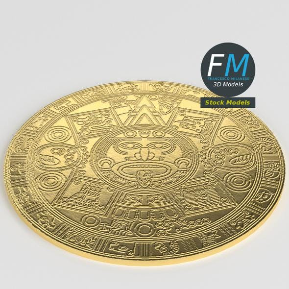 Pre-Columbian gold coin - 3DOcean Item for Sale