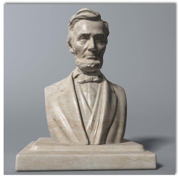 Abraham Lincoln Bust - 3DOcean Item for Sale