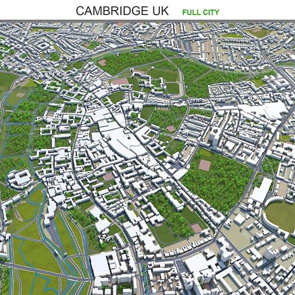 Cambridge city UK 3d model 20km - 3DOcean Item for Sale