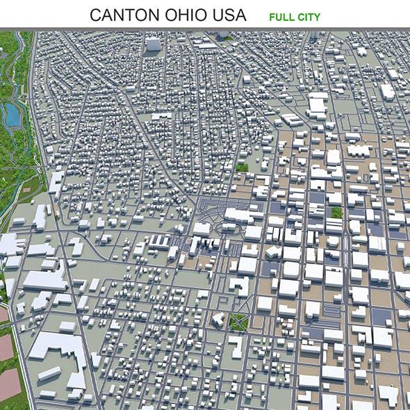 Canton Ohio USA 3d model 30km - 3DOcean Item for Sale