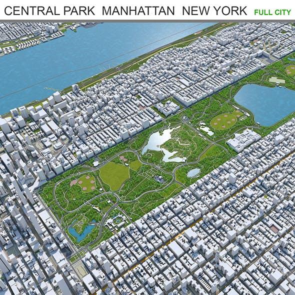 Central Park city Manhattan  New York 3d model 7km - 3DOcean Item for Sale