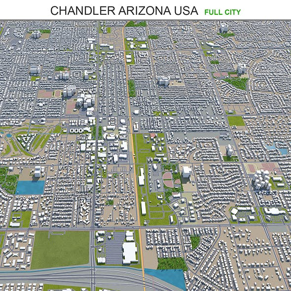 Chandler city Arizona USA 3d model 25km - 3DOcean Item for Sale