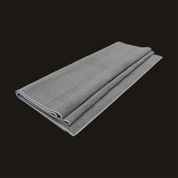 Folded Hand Towel With Border - 3DOcean Item for Sale