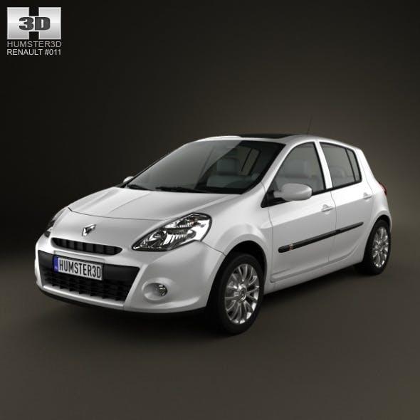 Renault Clio 5door 2010 - 3DOcean Item for Sale