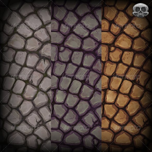 Curved Stone Floor Texture Tile