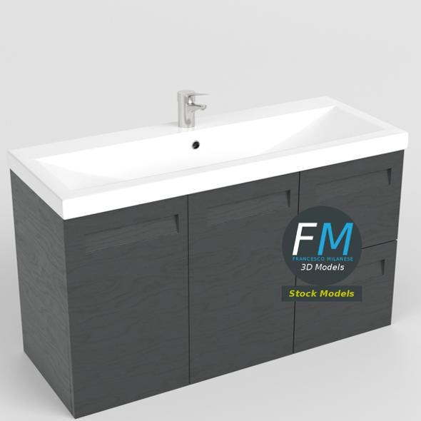 Wash basin sink with cabinet