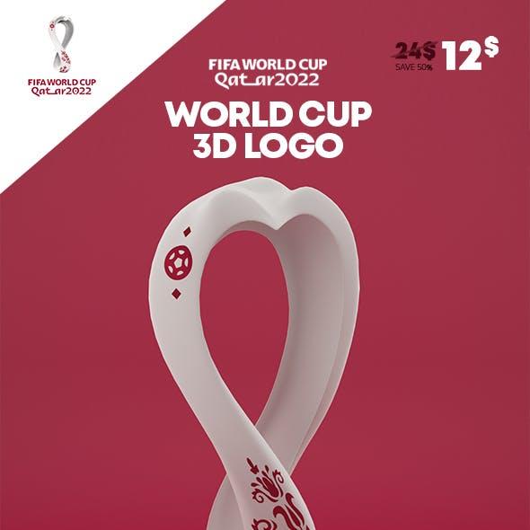 Logo World Cup Qatar 2022 3D Model