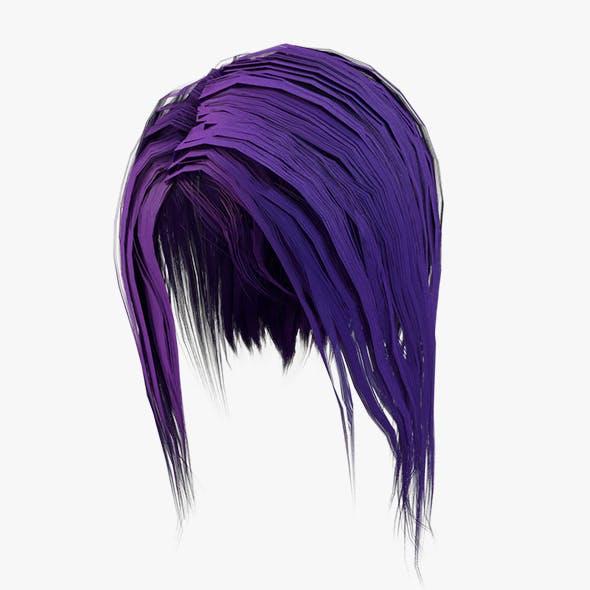 Elf Hair SEt Low-poly