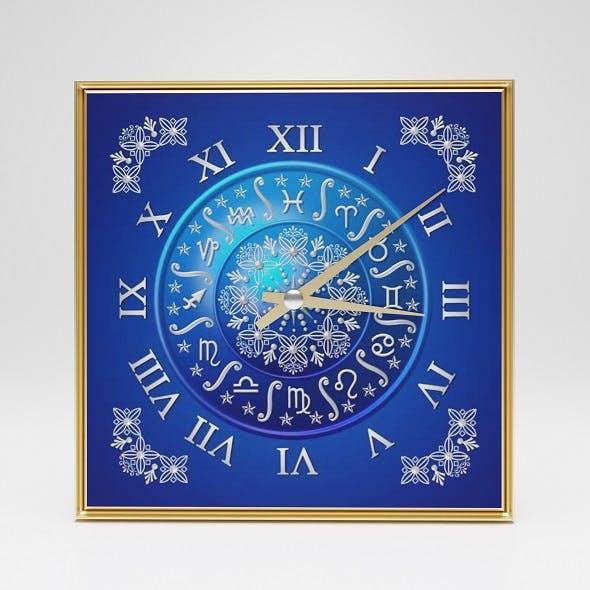 Wall clock Horoscope