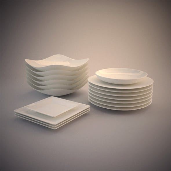 6 Photorealistics Ceramic dishes