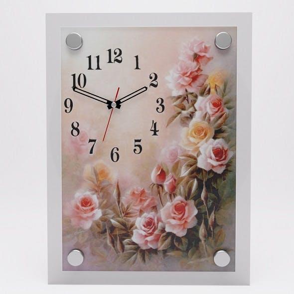 Wall clock Rose garden
