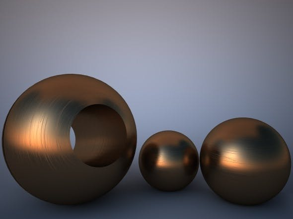 Scratched Bronze Material for Vray - 3DOcean Item for Sale