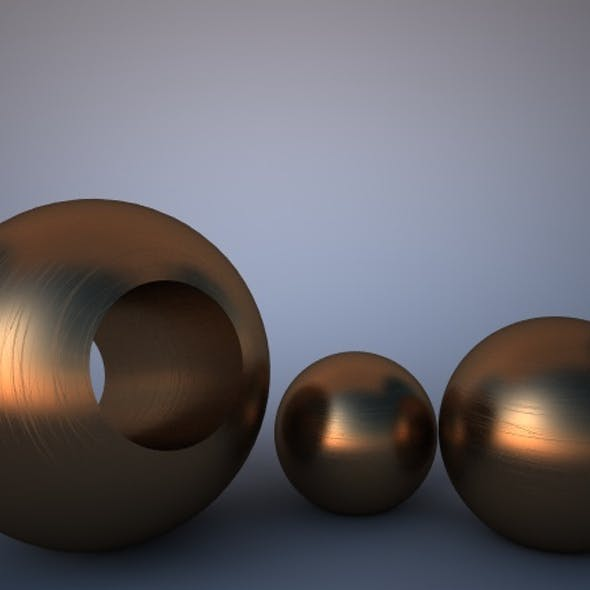 Scratched Bronze Material for Vray
