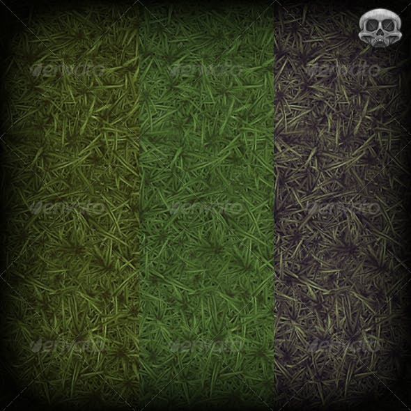 Grass Hand Painted Texture Tile