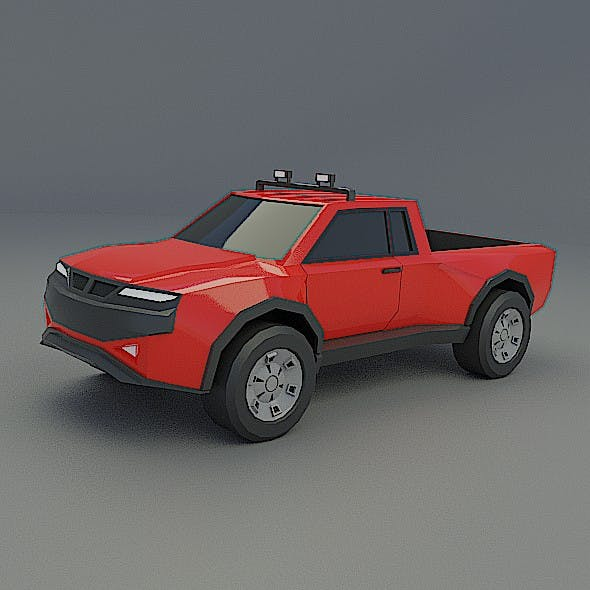 Lowpoly truck concept